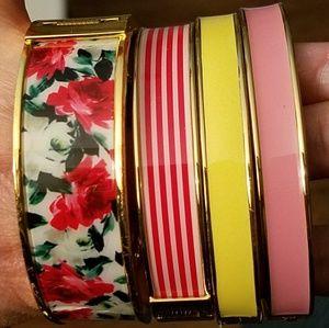 Set of 4 Talbots enamel bangle bracelets